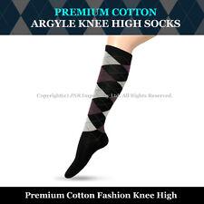 2c304121c Premium Cotton Argyle Knee High Socks Size 2-8 - Burgundy -Stock from Sydney