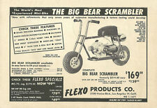 Vintage 1960's Flexo Big Bear Scrambler Mini-Bike Ad
