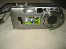 Sony Cyber-shot DSC-P10 5.0MP Digital Camera - Silver with Memory Card & Battery