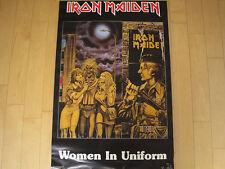Nos! 1980 vtg Iron Maiden women in uniform Poster concert Heavy Metal 80s nwobhm