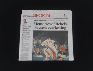 UNLV Runnin Rebels Nat'l Champs Anvrsy LJ Larry Johnson Vegas LVRJ Sports Page