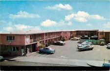 Fresno California~Coca-Cola Machine~Fresno Travel Lodge~Nice 1950s Cars~Postcard