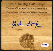 Earl The Big Cat Lloyd SIGNED Floorboard Washington Capitols PSA/DNA AUTOGRAPHED