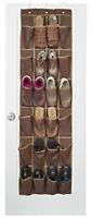 Over Door Shoe Hanger Rack Organizer Hanging Closet Storage Holder 24 Pockets
