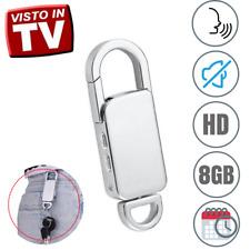 MICRO REGISTRATORE VOCALE AUDIO 8 GB SPY SPIA MINI AMBIENTALE USB PORTACHIAVI