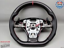 Chevrolet Corvette C6 Z06 Z1 Perforated 8mm Red Thick Carbon Steering Wheel V2