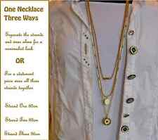 NEW MIMCO MIMETTE TRIPLE STRAND NECKLACE in GOLD + Dustbag rrp $149 sale $109