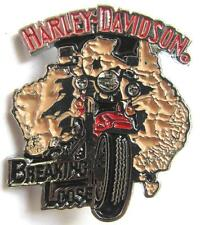11741 HARLEY DAVIDSON PIN BADGE BREAKING LOOSE AUSTRALIA MAP MOTOR BIKE