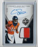 2018 Panini Limited Football Rookie Patch Auto Courtland Sutton 36/75