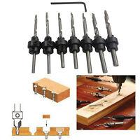22PCS Tapered Drill Countersink Bit Screw Set Wood Pilot Hole Wood Working Tools