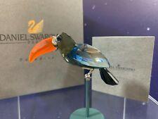 Swarovski Crystal Mint Figurine Paradise Birds Bamba Black Diamond 284062 MIB