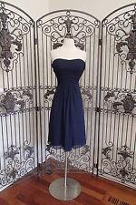 V172 BILL LEVKOFF 765 SZ 6 NAVY $205 #162 STRAPLESS COCKTAIL  FORMAL GOWN DRESS