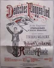 """Berlin 1883 Deutsches Flaggen Lied aus der Operette """" Unsere Marine""""  Noten"""