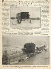 """CANADA """" LUTTE CONTRE LA NEIGE / SAINT-LAURENT """" ADP DE CLAUDE ALBARET 1907"""