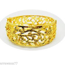 CARVE 22K 23K 24K THAI BAHT YELLOW  GOLD GP JEWELRY  BANGLE BRACELET