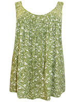 Avenue SAGE Printed Honeycomb Swing Top - Plus Size 16/18 to 32/34