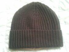 NEW NWT Banana Republic Dark Blue 100% Extra Fine Merino Wool hat beanie $49.50