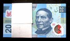 Banco de Mexico 100 x 20 Pesos Polymer Series X 10.JUN.2013. Bundle. Crisp UNC..