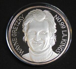 WAYNE GRETZKY L.A. KINGS 8 OZT 999 FINE SILVER COIN ENVIROMINT ROUND 1994 - GOAT