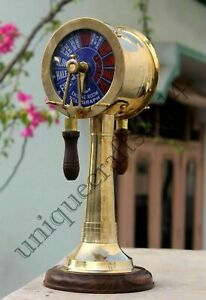 Telegraph Nautical Astrolabe Solid Brass Marine Engraved Vintage Decor Telegraph