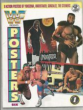 VINTAGE 1993 WWF MAGAZINE POSTERS STEINERS UNDERTAKER YOKOZUNA GONZALEZ WWE WCW