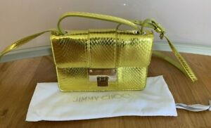 Original Jimmy Choo Tasche, Rebel Mini, Bag / Crossbody Tasche, gelb, wie neu