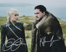 Kit Harrington - Emilia Clarke - Game of Thrones - DUAL Autographed 8 x 10 w/COA