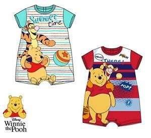 Disney Winnie the Pooh and Tigger Baby Boy Girl Romper Bodysuit Play suit Cotton