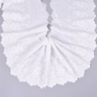3Yards Lace Fabric Cotton Embroidered Trim DIY Sewing Clothes Ribbon Supplies