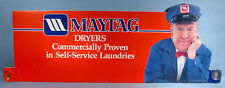 1970-80s Maytag Man Orig. Store Display Dryer Machine Suction Sign Jesse White