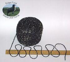 100g ball Dark Blue Tweed & Cream Marl 100% English Wool Double knitting yarn dk