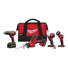 Milwaukee 2695-24 M18 18V Cordless Power Lithium-Ion 4-Tool Combo Kit - NEW !!!!