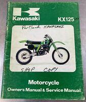 Kawasaki Owners Service Manual KX125-A7 KX125 KX 125 A7 1981 81 OEM Owner's