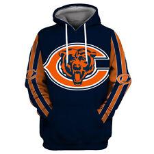 Chicago Bears Football Hoodies 3D Sweatshirts Unisex Pullover Hooded Jacket Coat