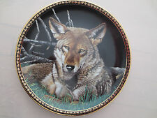 The American Wilderness STILL OF THE NIGHT Hamilton Wolf Plate Martiena Richter