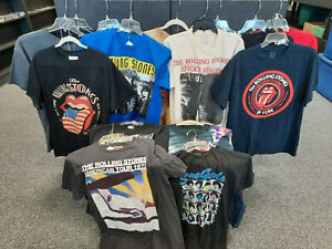 THE ROLLING STONES Lot of 15 Rock Band T-Shirts Size L-XL Modern Lightly Worn