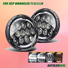 "ALH For 97-06 Jeep Wrangler TJ 7"" 78W LED Wrangler Headlight DRL Turning Signal"