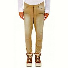 $1365.00 NEW AUTHENTIC BALMAIN TAN SKINNY FIT CROPPED JEANS M/ITALY TAG SIZE 31.