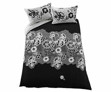 Living Mia Black and White Bedding Set with Duvet Cover and Pillowcases KINGSIZE