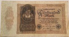 GERMANY 5000 MARK BANKNOTE XF 1922 RARE NO RESERVE