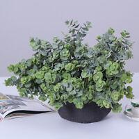 US Artificial Silk Eucalyptus Simulation Leaves Flower Silk Flower Home Deor GW