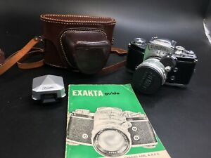 exakta camera bundle varex ii a dresden leather carry case and guide