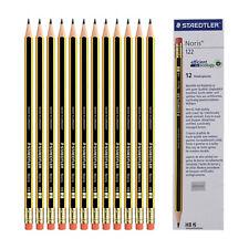 12pcs X STAEDTLER Noris 122-HB Pencil with eraser tip