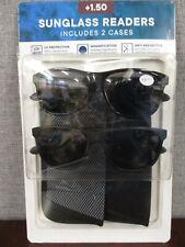 New Eyewear Ltd. 2 pack Men's Invisible Seam Bifocal Sunglass Readers  +1.50
