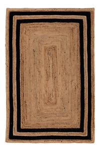 Rug Runner 100% Natural Jute Handmade Carpet 2x6 Feet Reversible Modern look Rug