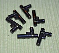 (6) Black Handgun / Nozzle Bricks ~ Lego ~ NEW ~ Castle