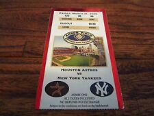 Second Game Enron Field Astros vs Yankees 3/31/2000 Season Ticket Stub RARE