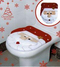 CHRISTMAS SANTA CLAUSE NOVELTY FESTIVE BATHROOM TOILET SEAT COVER DECORATION NEW