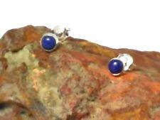 LAPIS  LAZULI  Sterling Silver 925 Gemstone Earrings / STUDS - 4 mm - Gift Boxed