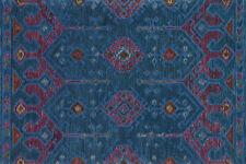 7'x9' Loloi Rug Gemology Wool Blue Plum Hand-made Contemporary GQ-02
